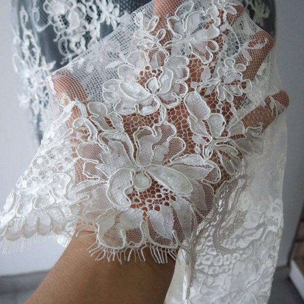 bridal Alencon lace