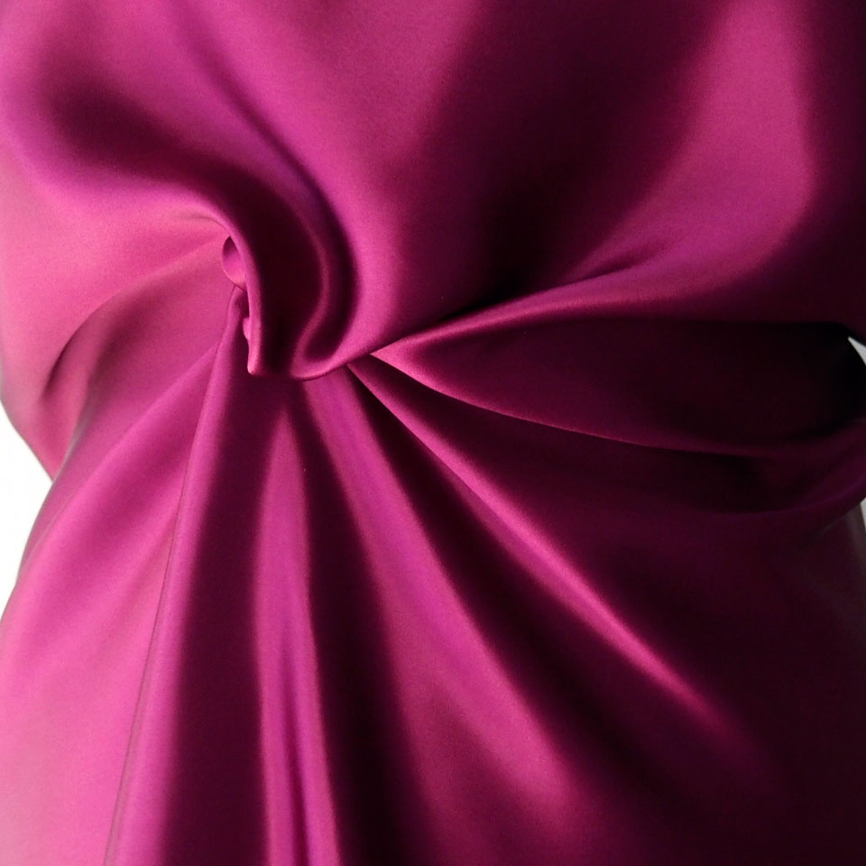 purple silk satin