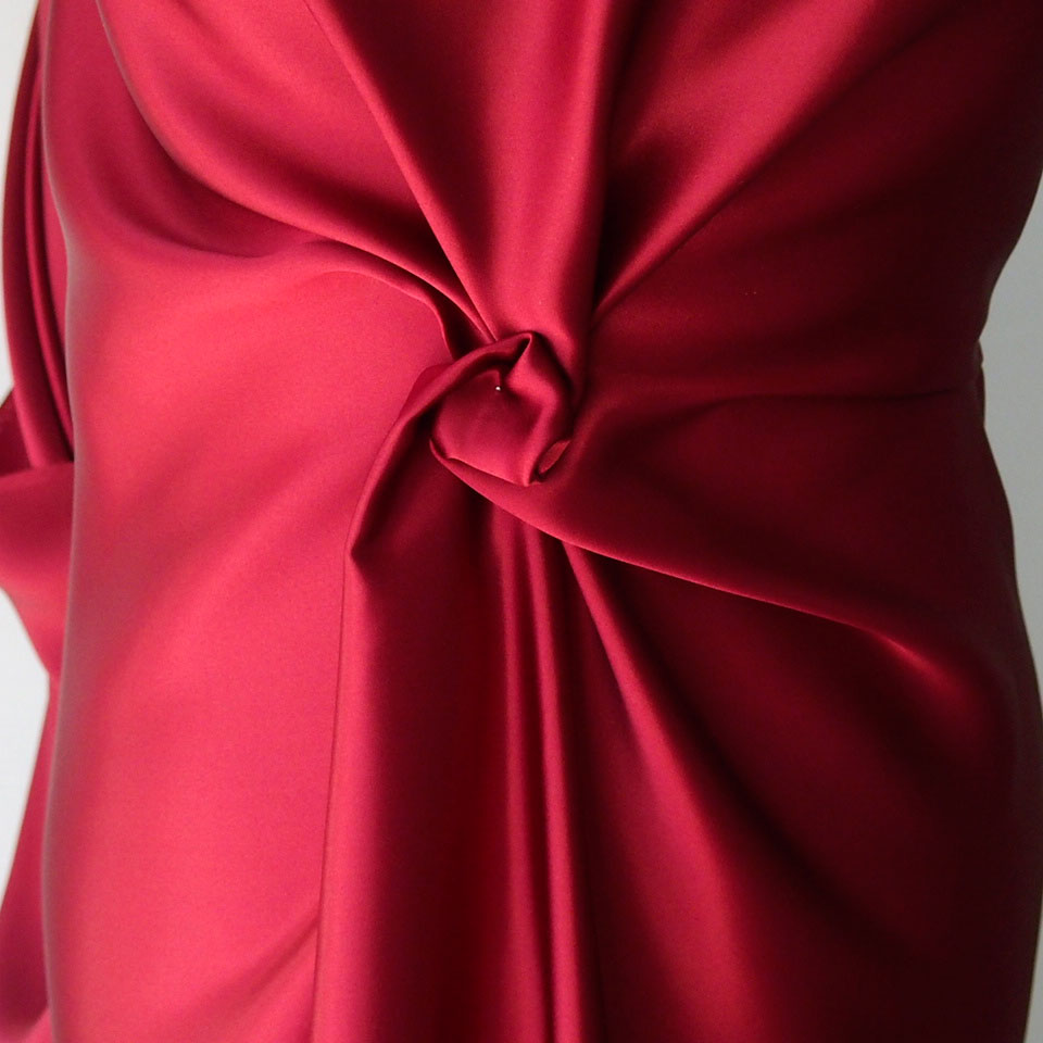 burgundy silk satin
