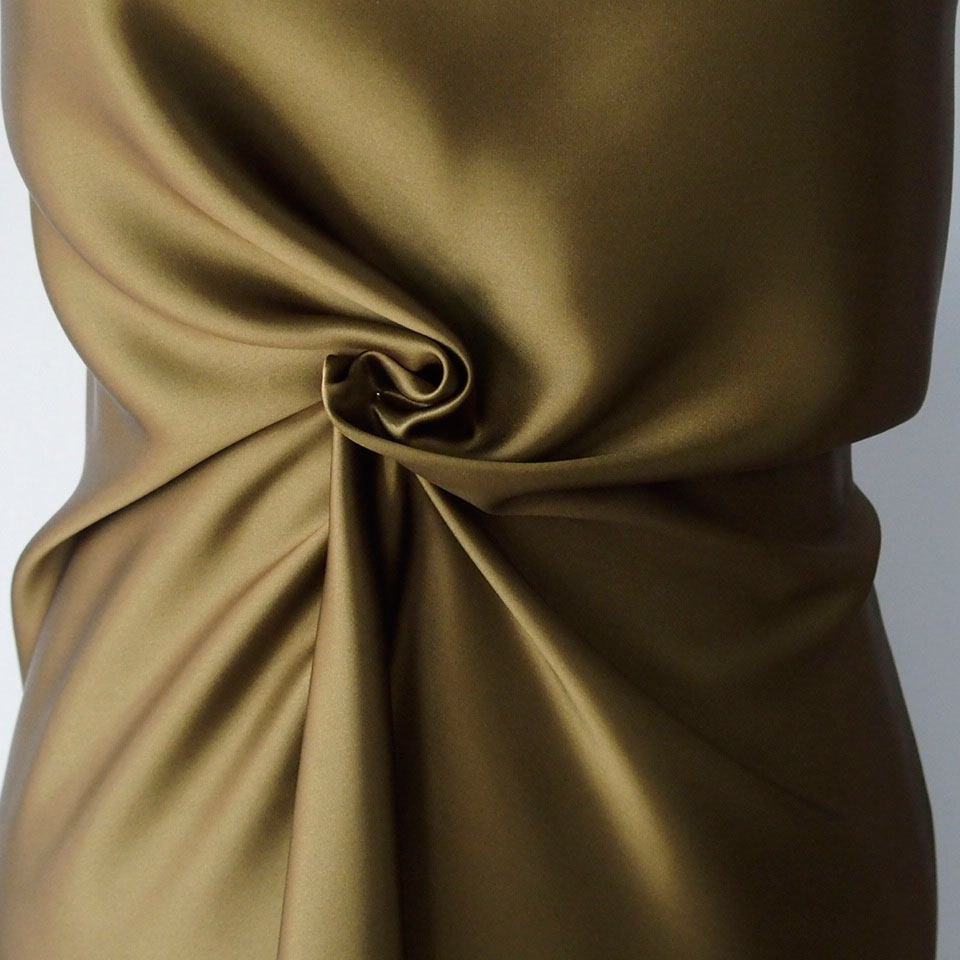 olive green pure silk satin fabric bodikian textiles. Black Bedroom Furniture Sets. Home Design Ideas