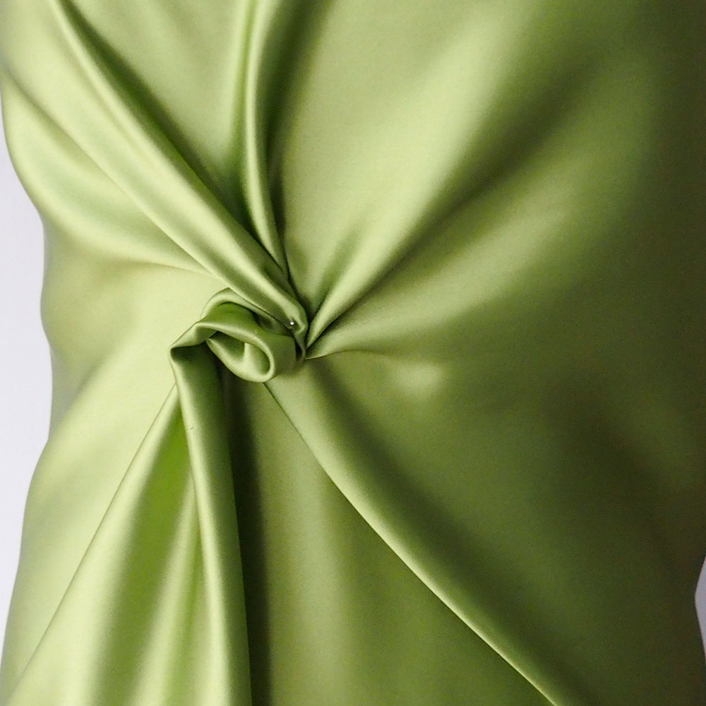 bright green pure silk satin fabric bodikian textiles