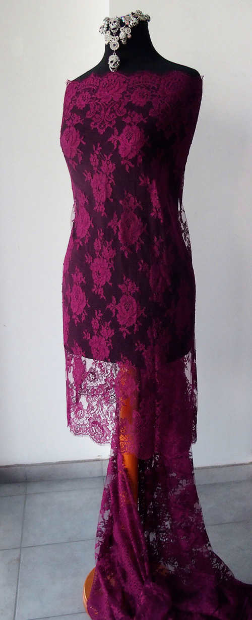 burgundy red lace