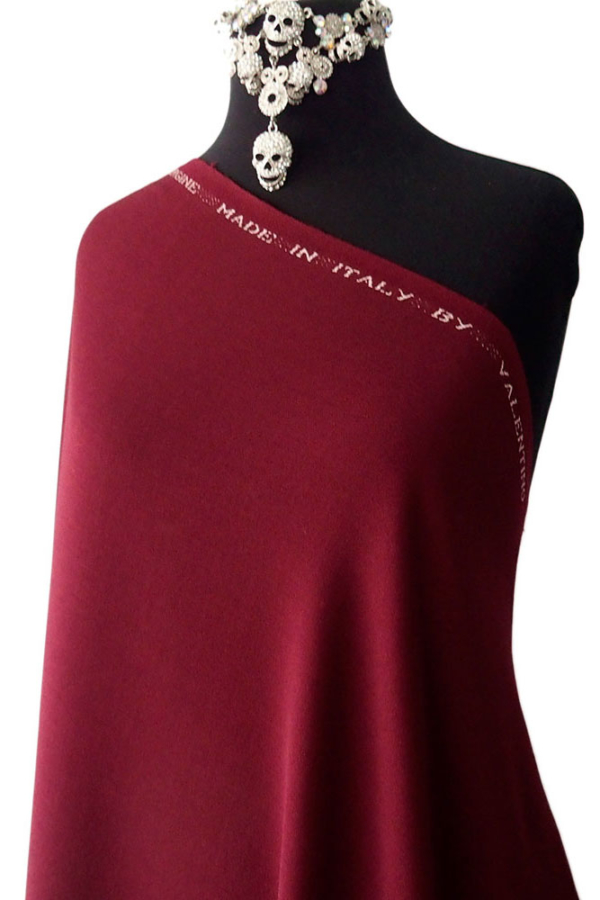 burgundy red wool
