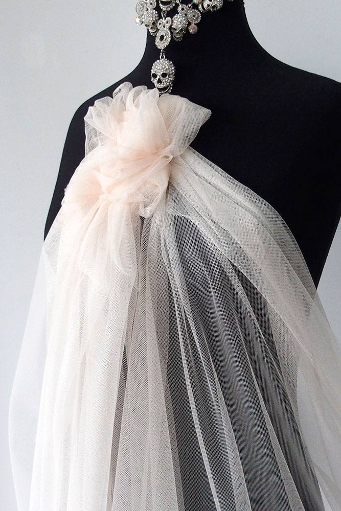 plush peach tulle