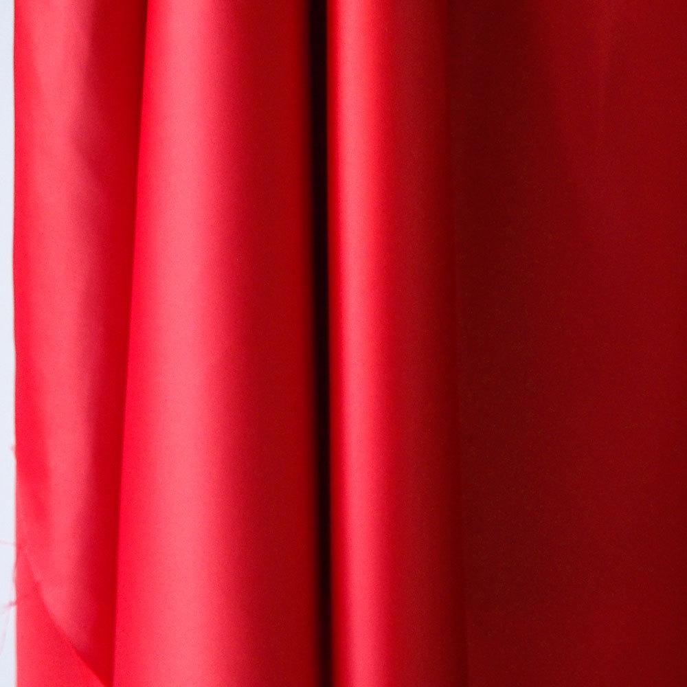 red spandex satin