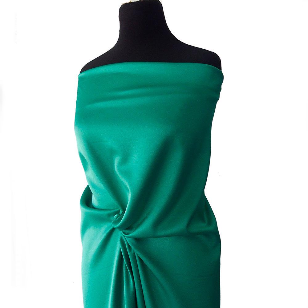 17fff98861120 ... Stretch/Emerald Green crepe satin fabric 2 ways stretch polyester  spandex 150cm 60 inches. ; 