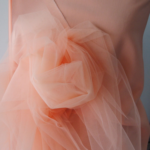 coral peach tulle