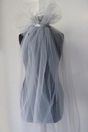 light grey tulle