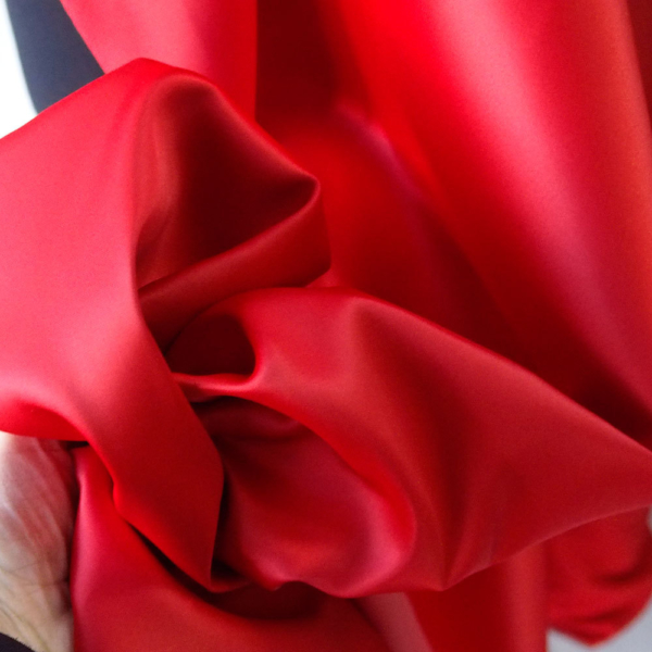red duchess satin