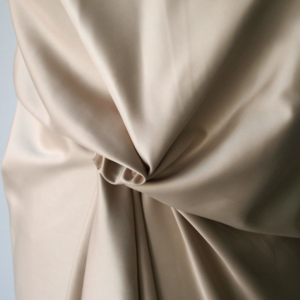 Polyester Satin Fabric Poly Spandex Heavy Duchess Dull
