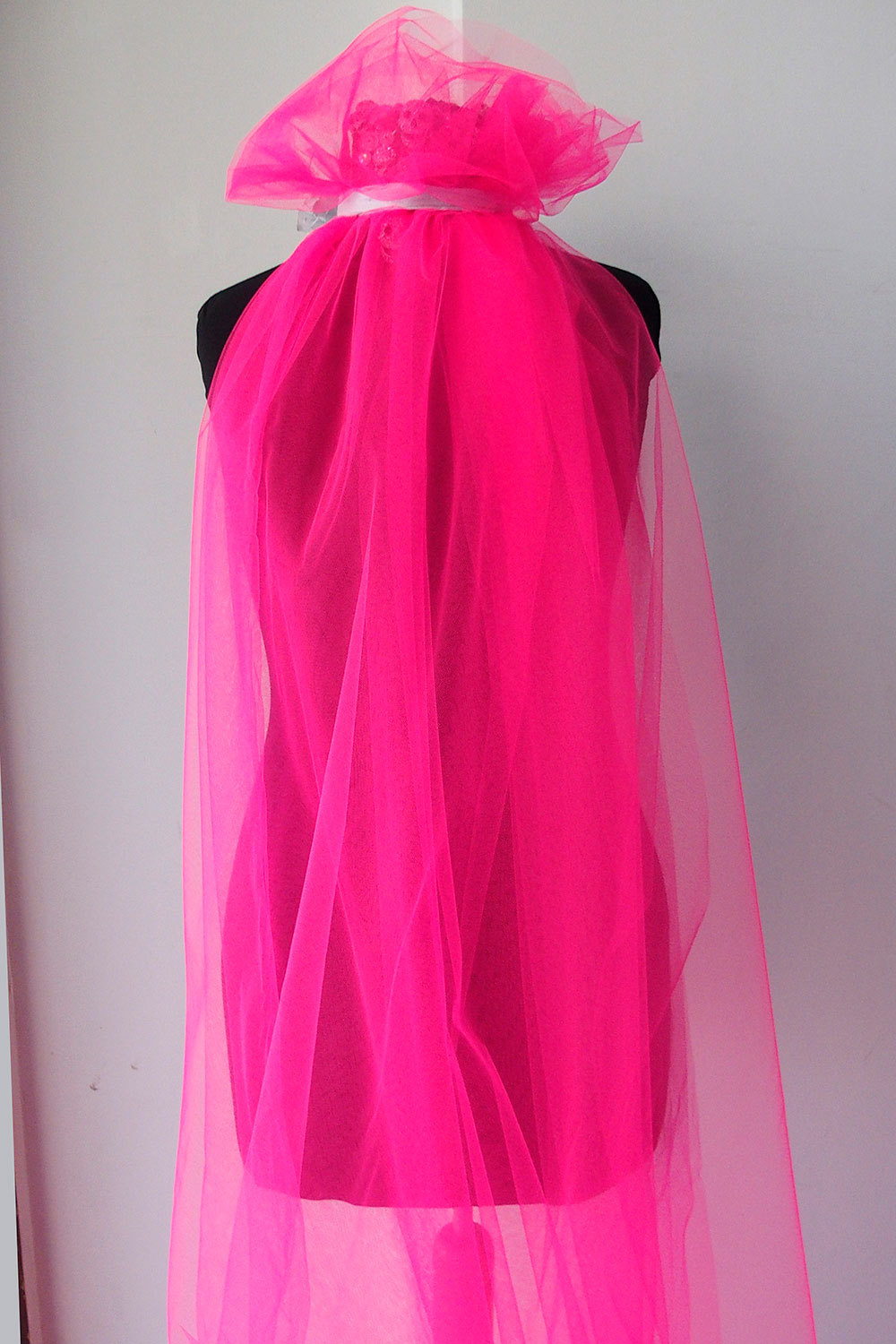 fluorescent pink tulle