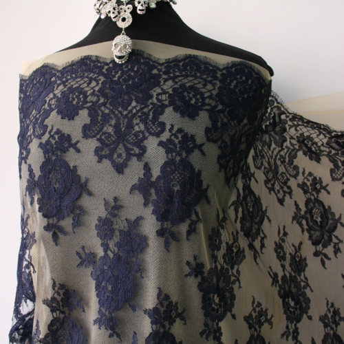 navy blue lace