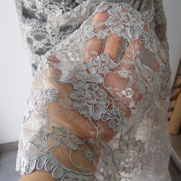 light grey lace