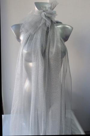 silver metallic tulle