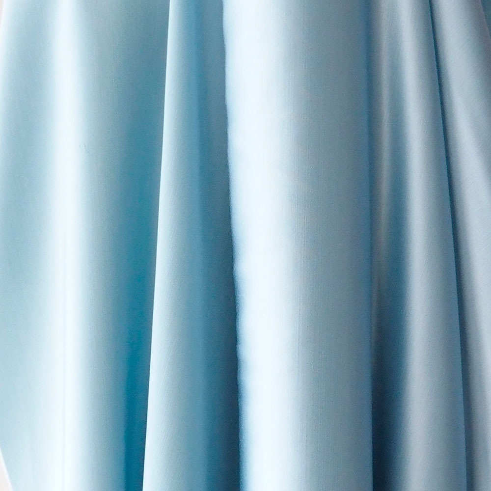 blue satin fabric