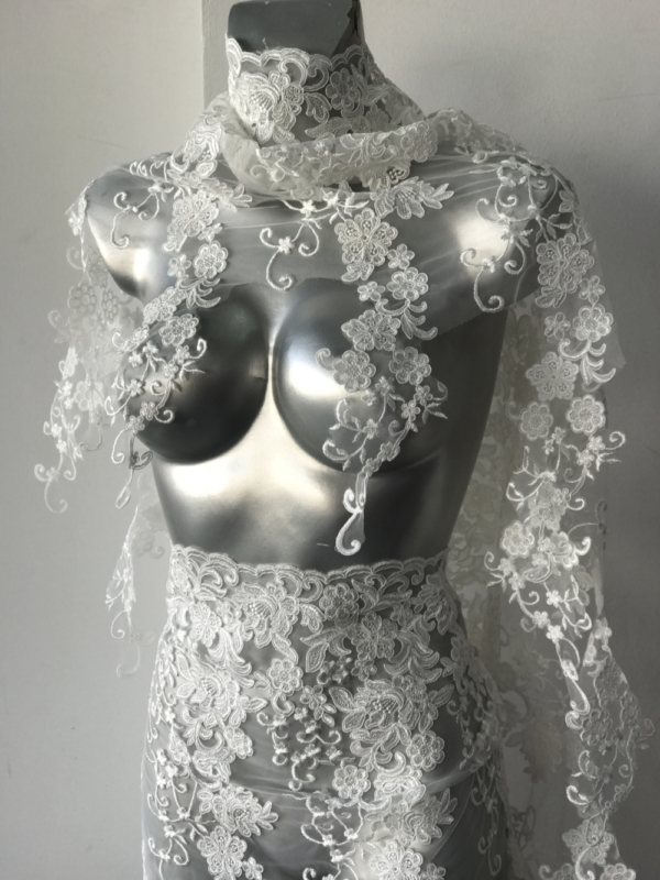 bridal border lace