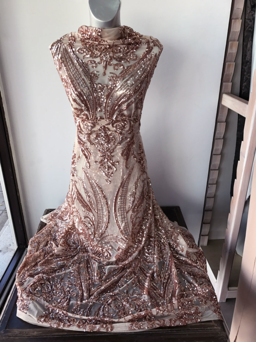 rosegold lace