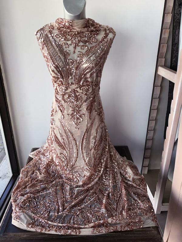 rosegold lace