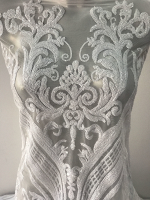 sequins bridal lace