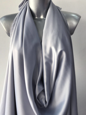 light grey satin