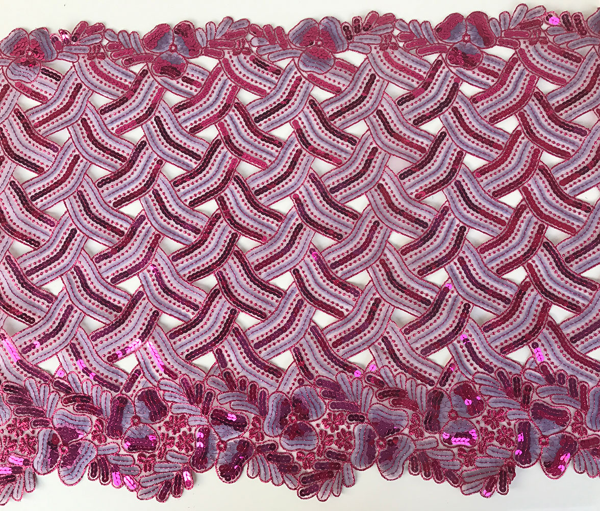 pink cut out lace