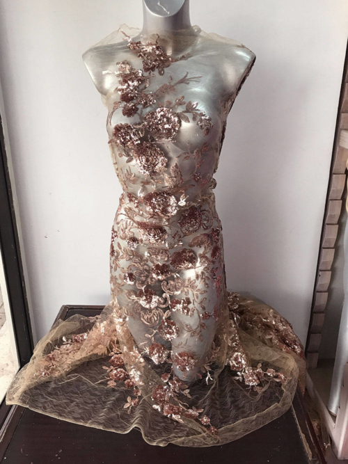 rose gold sequins fabric