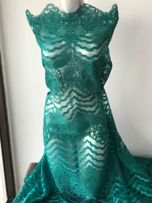 green corded lace