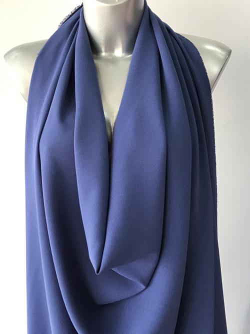 blue stretch crepe fabric