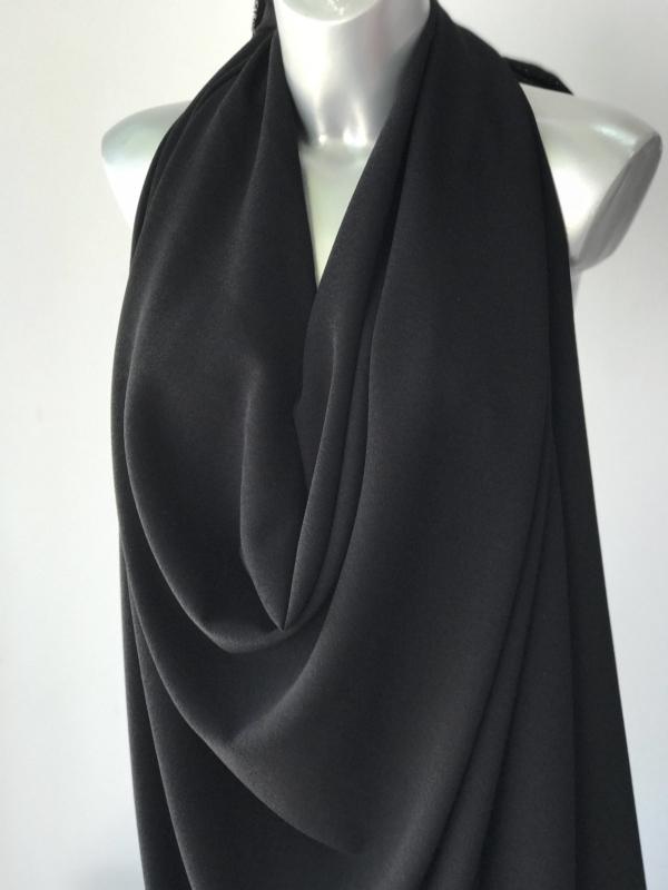 black crepe fabric