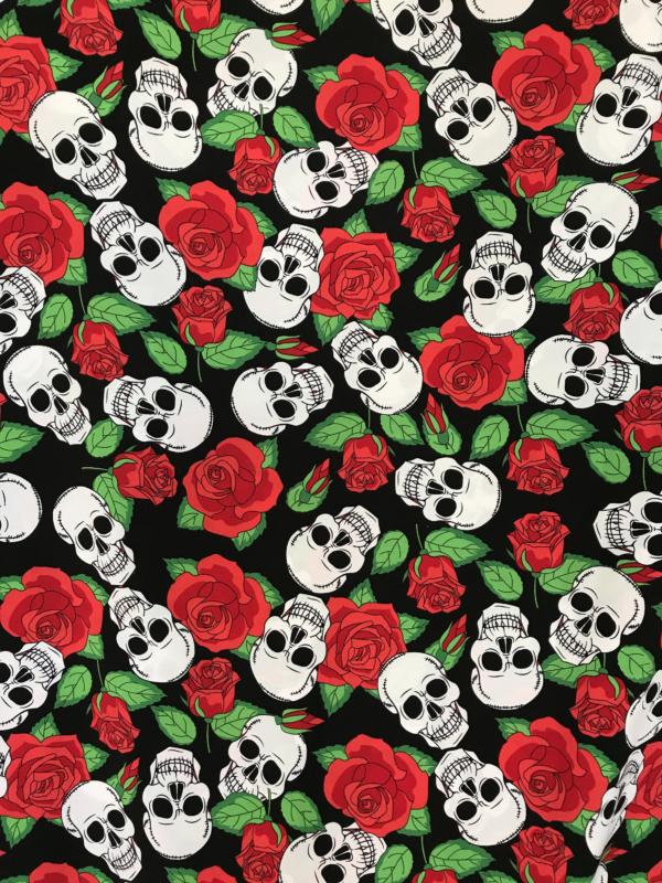 skulls fabric