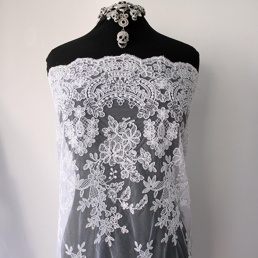 white bridal lace
