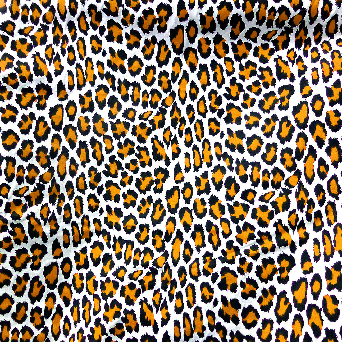 Animal Print Fabric Leopard Black White Orange Pure Cotton Quilting Decoration Throw Pillows African Design Tribal Fancy Dress