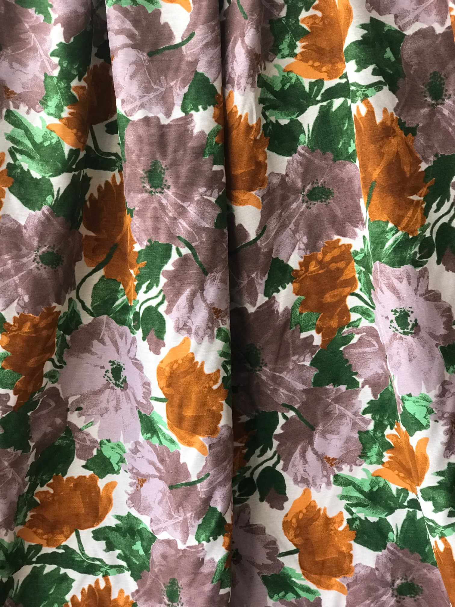 floral summer dress fabric
