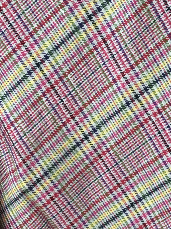 linen fabric check pattern