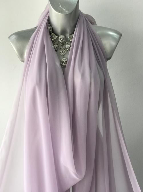 purple polyester chiffon