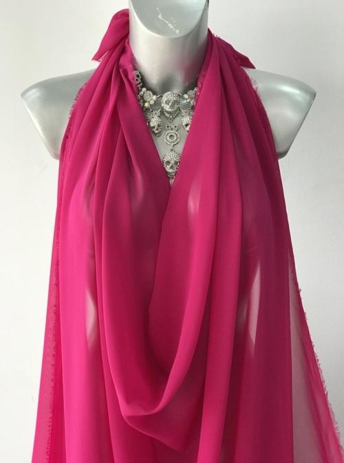 fuchsia pink chiffon