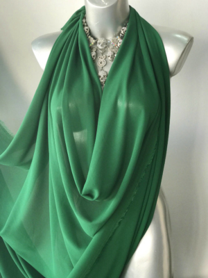 green chiffon fabric