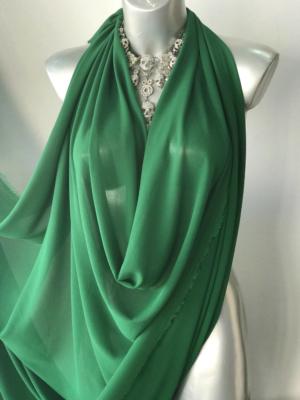 green chiffon fabric
