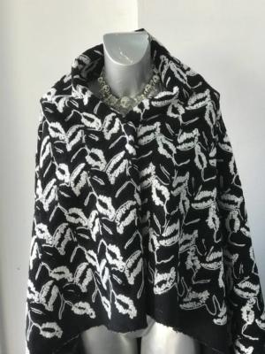 white on black wool