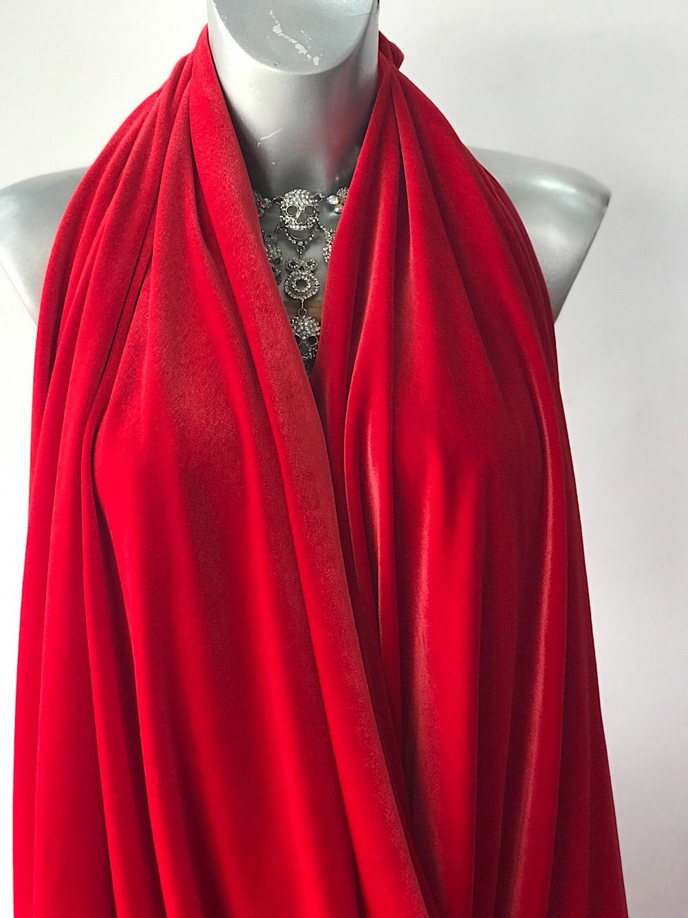Red Velvet Jersey Stretch Velvet Fabric Velvet Spandex Lycra Bodikian Textiles