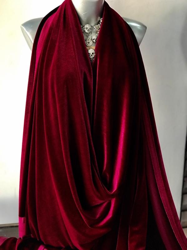 Bordeaux wine red velvet jersey