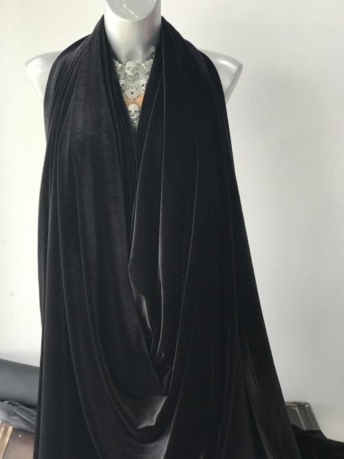 black jersey velvet