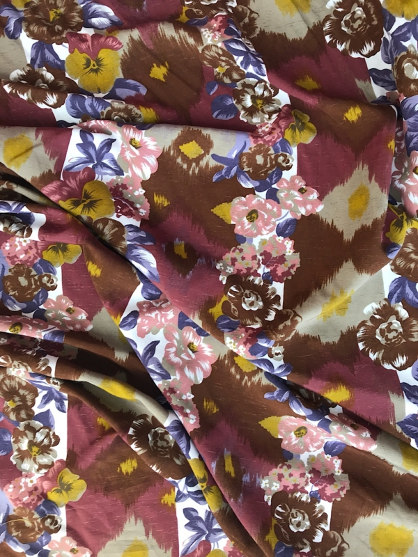 tribal print summer dress fabric