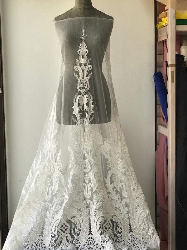 ivory bridal lace fabric
