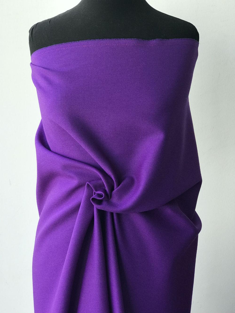 purple wool fabric