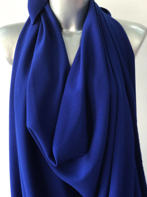 Cobalt blue stretch crepe