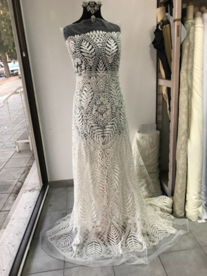 ivory beaded lace bridal