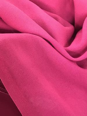 pink wool crepe