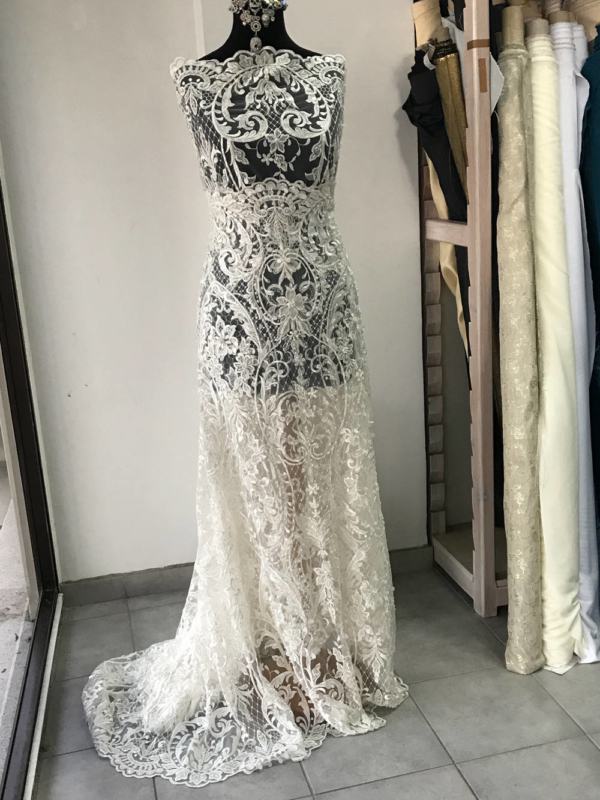 beaded bridal lace