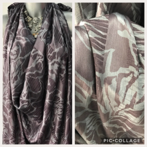 grey viscose jacquard